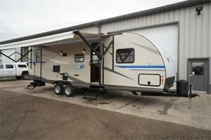 28 foot travel trailer with double bunks