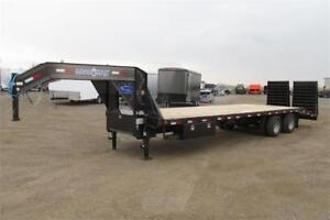 2018 - HEAVY DUTY GOOSENECK 30FT TANDEM AXLE W/5FT MULTI-PURPOSE