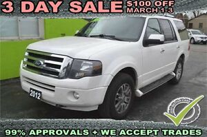 2012 Ford Expedition Limited 4WD, Leather - Sunroof - Seats 8