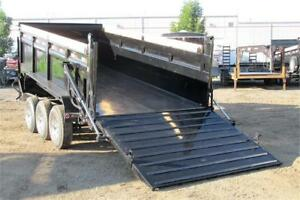 2018 GOOSENECK DUMPBOX  16FT TRIPLE AXLE HYDRAULIC RAMP/GATE