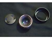 Zeiss 50mm 1.4 full frame Canon lens.