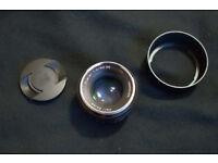 Zeiss 50mm 1.4 full frame lens.