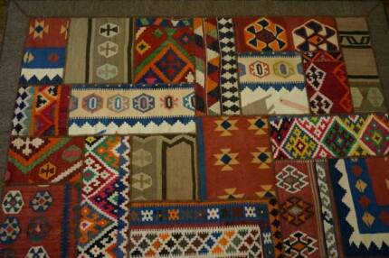 Authentic Vintage Kurdish Handmade Patchwork Rug Persian Kilim Hornsby Hornsby Area Preview