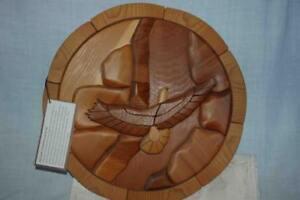 Intarsia Bald Eagle Plate