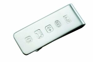 SOLID SILVER MONEY CLIP WITH FEATURE HALLMARK. **STERLING SILVER MONEY CLIP**