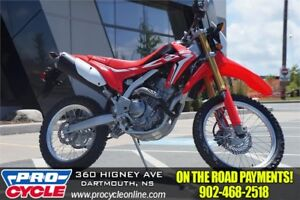 2018 Honda CRF 250L $32/Week OTR