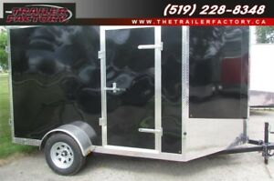 New Cargo Trailer 7'x10' V-Nose Black, Financing Available
