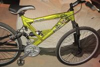 CARRERA RECON DS DUAL SUSPENSION SHIMAN0 21 SPEED MOUNTAIN BIKE