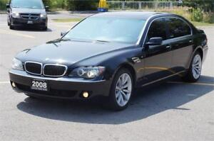 2008 BMW 7 Series 750Li Fully Loaded Low Km No Accident Mint!