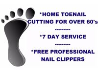 Home Toe Nail Cutting Service for the over 60's
