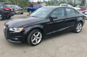 2015 Audi A3 2.0T Komfort $169 B/W Heated Leather, Sunroof, USB
