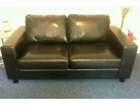 Black Leather Sofa Bed. Was £650 now only £220. *Free Delivery*