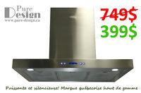 -40% LIQUIDATION 749$ pour 399$ HOTTE DE CUISINE MURALE