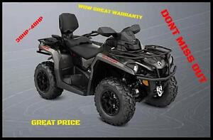 5 YEAR WARRANT ON ALL OUR 450CC AND 570CC ATVS, MAX AND STANDARD