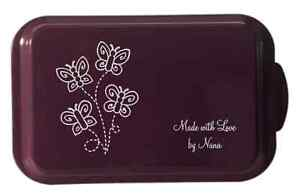 Laser Engraved Cake Pan w/Lid 6 Colors 24 Designs Custom Personalized Your Words