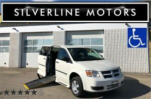 2010 DODGE GRAND CARAVAN, WHEELCHAIR VAN, SIDELOAD POWER RAMP!