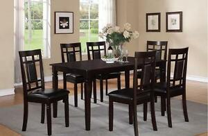 SOLID WOOD DINNING TABLE FROM 599$ WITH 6 CHAIRS