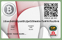 Bitcoin Wallet Plastic Cards Only 5.99 € -  - ebay.es