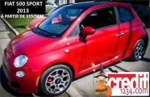 2013 FIAT 500 Sport, À PARTIR DE 25$/SEM.100%APPROUVÉ ! CUIR !