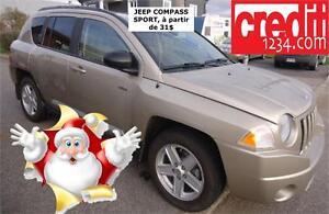 2010 Jeep Compass Sport, À PARTIR DE 31$/SEM.100%APPROUVÉ!