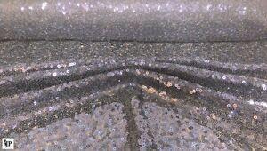 Paillettenstoff , Glitzer, Pailletten auf Tüll aufgenäht, Meterware, Silber