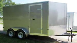New Cargo Trailer 7'x12' V-Nose Pewter, Financing Available
