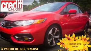 2015 Honda Civic Coupé Si,À PARTIR DE 68$/SEM. 100% APPROUVÉ !