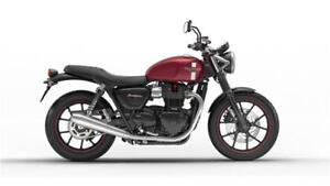 - 2017 STREET TWIN CRANBERRY RED INCLUDES $550 OF INSTALLED ACC