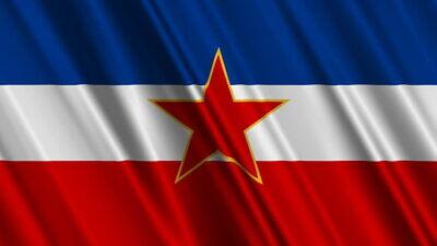 Yugoslavia Flag , Bügelbild Markenqualität Waschbar bis95°C 5x10cm