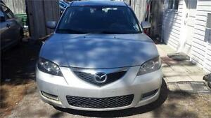 2007 MAZDA3  MANUAL ETESTED AND SAFETY LOW MILLAGE