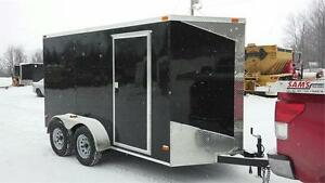 IN STOCK** NEW 6x12 V-NOSE DOUBLE AXLE ENCLOSED TRAILERS