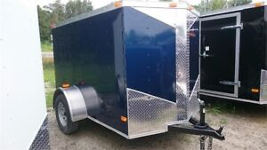 2018 NEW 5x8 V-NOSE BLUE CARGO TRAILER