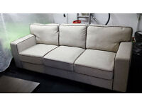 Ex-display Large fabric 3 seater with leather trim