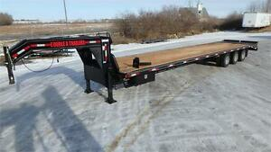 2017 40FT Tri Axle Gooseneck Trailer (36,000 GVW) Double A