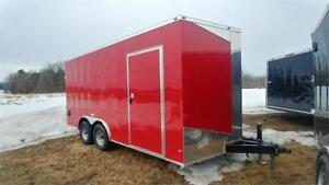 NEW STOCK 8,5x16 V-NOSE  BARN DOOR 5200LBS AXLE W/ EXTRA HEIGHT