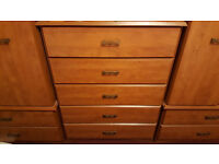 Bedroom Furniture, wardrobes, chest of drawers, dressing table and stool