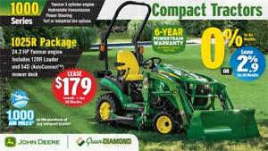 JOHN DEERE 1025R COMPACT UTILITY TRACTOR PACKAGE