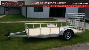 ALL ALUMINUM 6x10 UTILITY TRAILER with HD RAMP