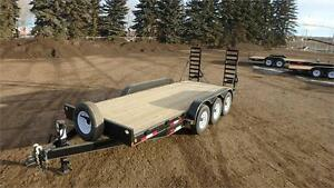 2017 Double A, 18FT Tri Axle Equipment Trailer (21,000LB GVW)