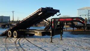 2017 Double A 30FT Full Tilt Deck Gooseneck Trailer (25000 GVW) Edmonton Edmonton Area image 2