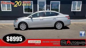 2013 NISSAN SENTRA SV SEDAN - 4cyl, cruise, bluetooth, only 91K