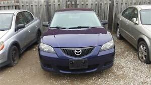 2006 MAZDA 3 AUTOMATIC 4 DOORS WITH SAFETY