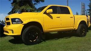 2016 RAM 1500 SPORT THE RUMBLE BEE , LIFTED RIMS & TIRES !!