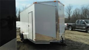 2018 NEW 7X14 EXTRA HEIGHT ENCLOSED TRAILERS 3500lbs axle