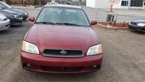 2003 SUBARU LEGACY AUTOMATIC AIR 4 DOORS ALL WHEEL SAFETIED