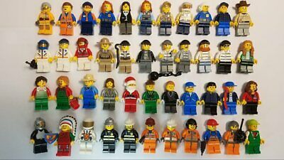 LEGO Minifigure Lot City People Crooks Santa +