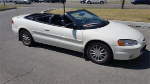2002 Chrysler Sebring Convertable Limited florida car 104miles