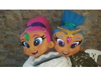 SALE BRAND NEW Shimmer & Shine adult size superior delux fancy dress mascots £195 each