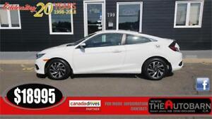 2016 HONDA CIVIC LX COUPE - 4CYL, MANUAL, CRUISE, BLUETOOTH