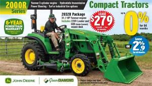 2032R COMPACT UTILITY TRACTOR, LOADER & MOWER DECK PACKAGE